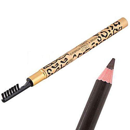 Wasserdichter Leopard Shell Brown Augenbrauenstift mit Pinsel Make Up CosmeticTool – wie das Bild the