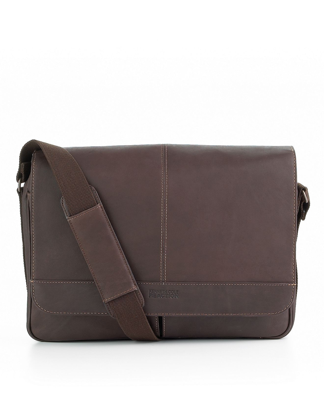 Kenneth Cole Reaction Columbia Leather Single Gusset Messenger Bag - Mens  Men s Bags   Backpacks - Macy s 9be677a72c