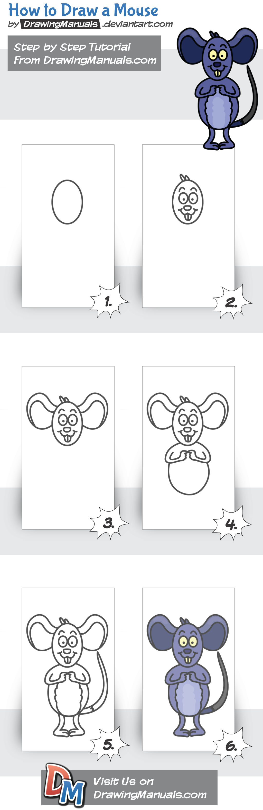 How to Draw a Mouse Step-by-Step https://play.google.com/store/apps/details?id=com.aku.drawissimo https://itunes.apple.com/app/id1098056720