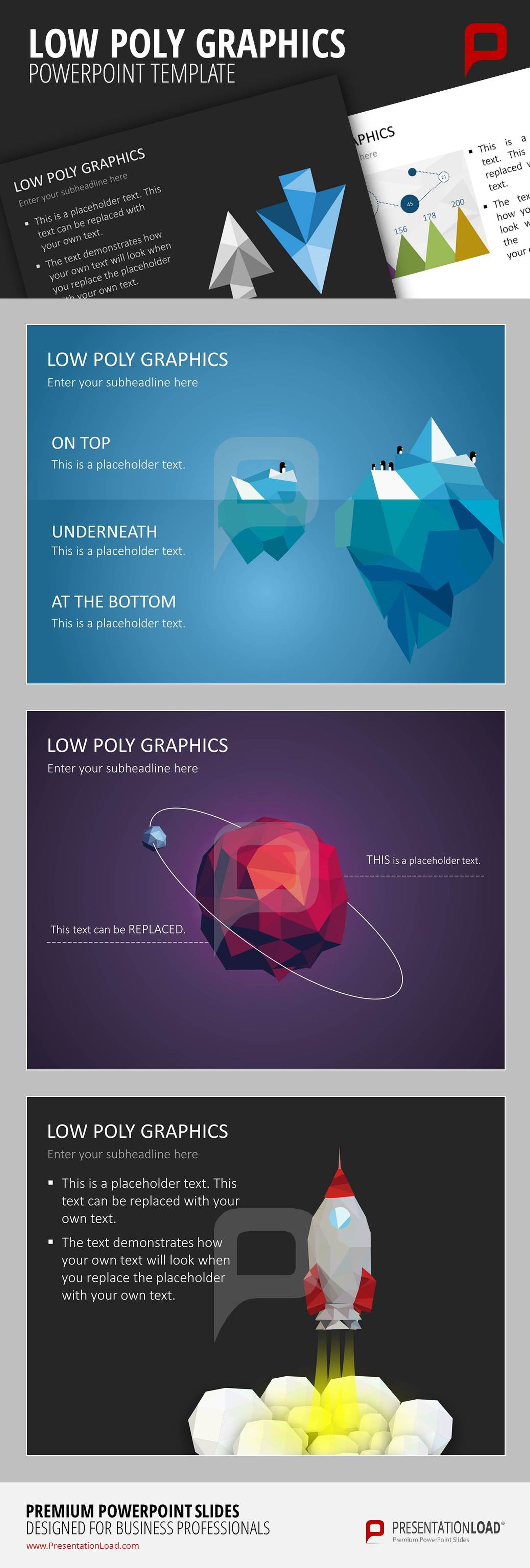 Get creative templates for your powerpoint presentation with the get creative templates for your powerpoint presentation with the low poly graphics simply fill in toneelgroepblik Gallery