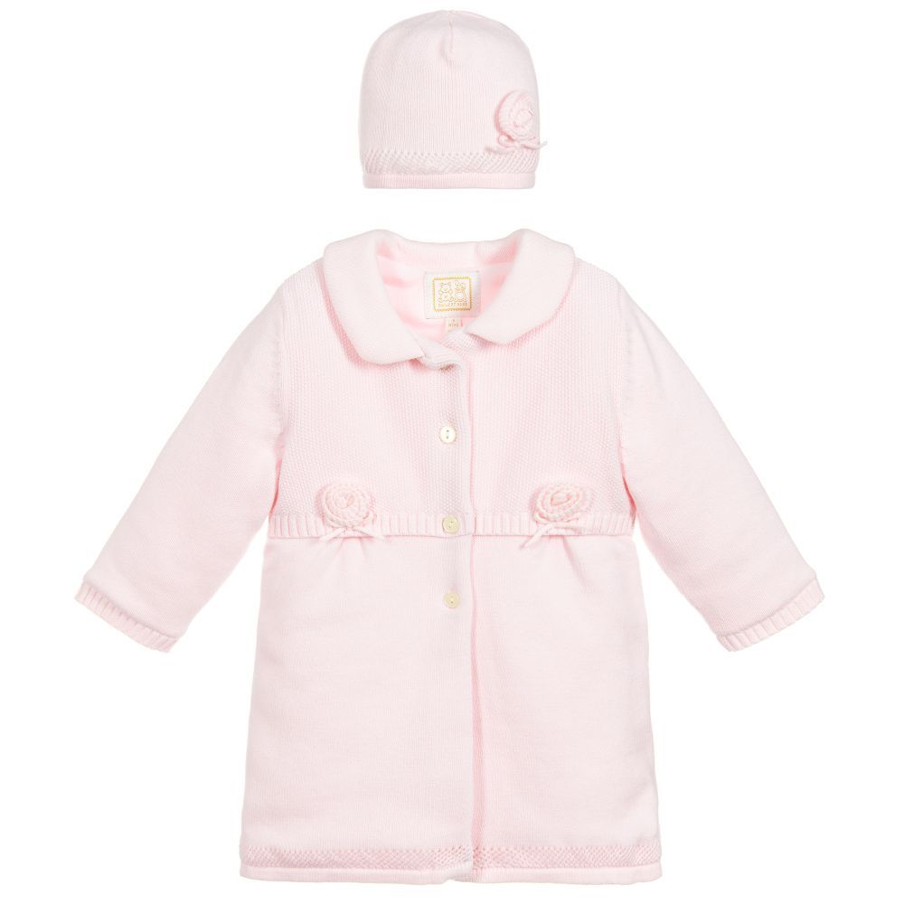 6deed75d815e NORMA Knitted Pram Coat   Hat for Girl by Emile et Rose. Discover ...