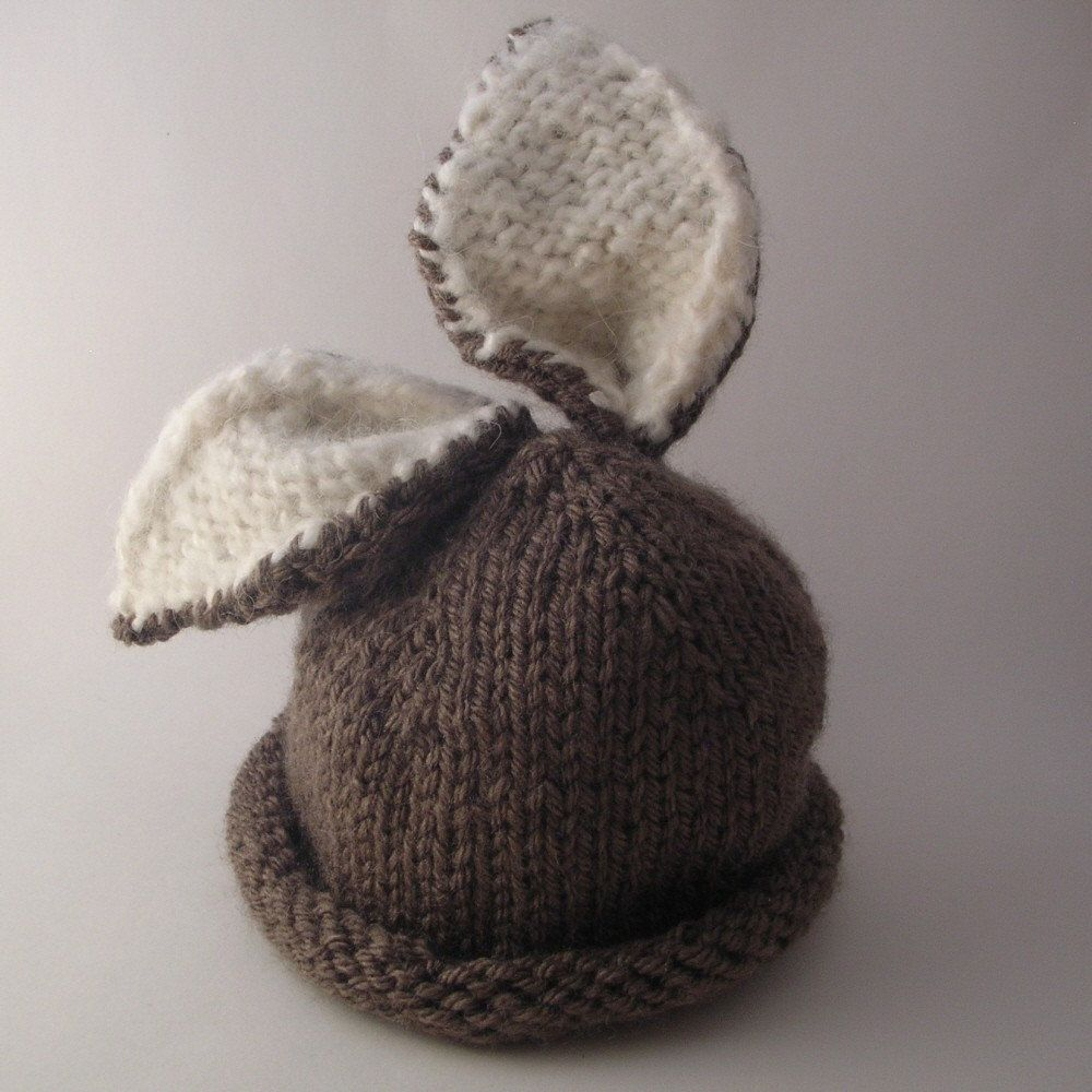 Briar Bunny Baby Hat PDF PATTERN. $5.00, via Etsy. | knitting ideas ...