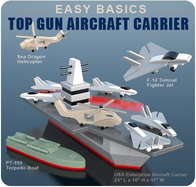 Easy basics top gun aircraft carrier wood toy plan set wooden easy basics top gun aircraft carrier wood toy plan set top gun partycrafts sciox Choice Image