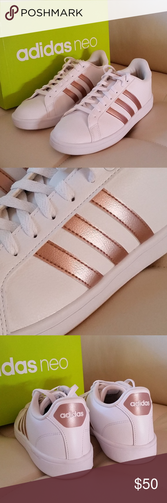 Rose Gold Adidas Shoes | Ropa