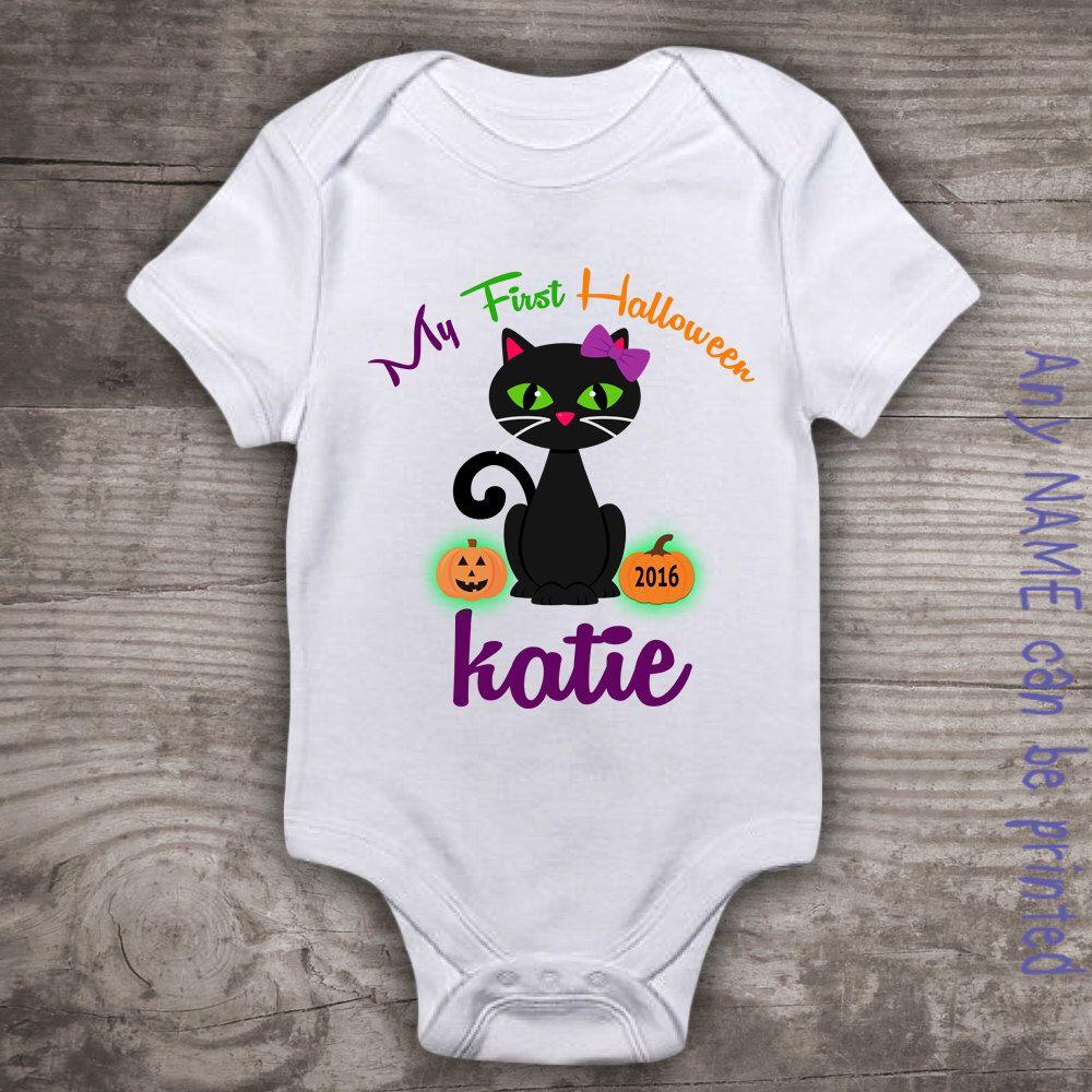 Babies first Halloween shirt personalized 1st Halloween