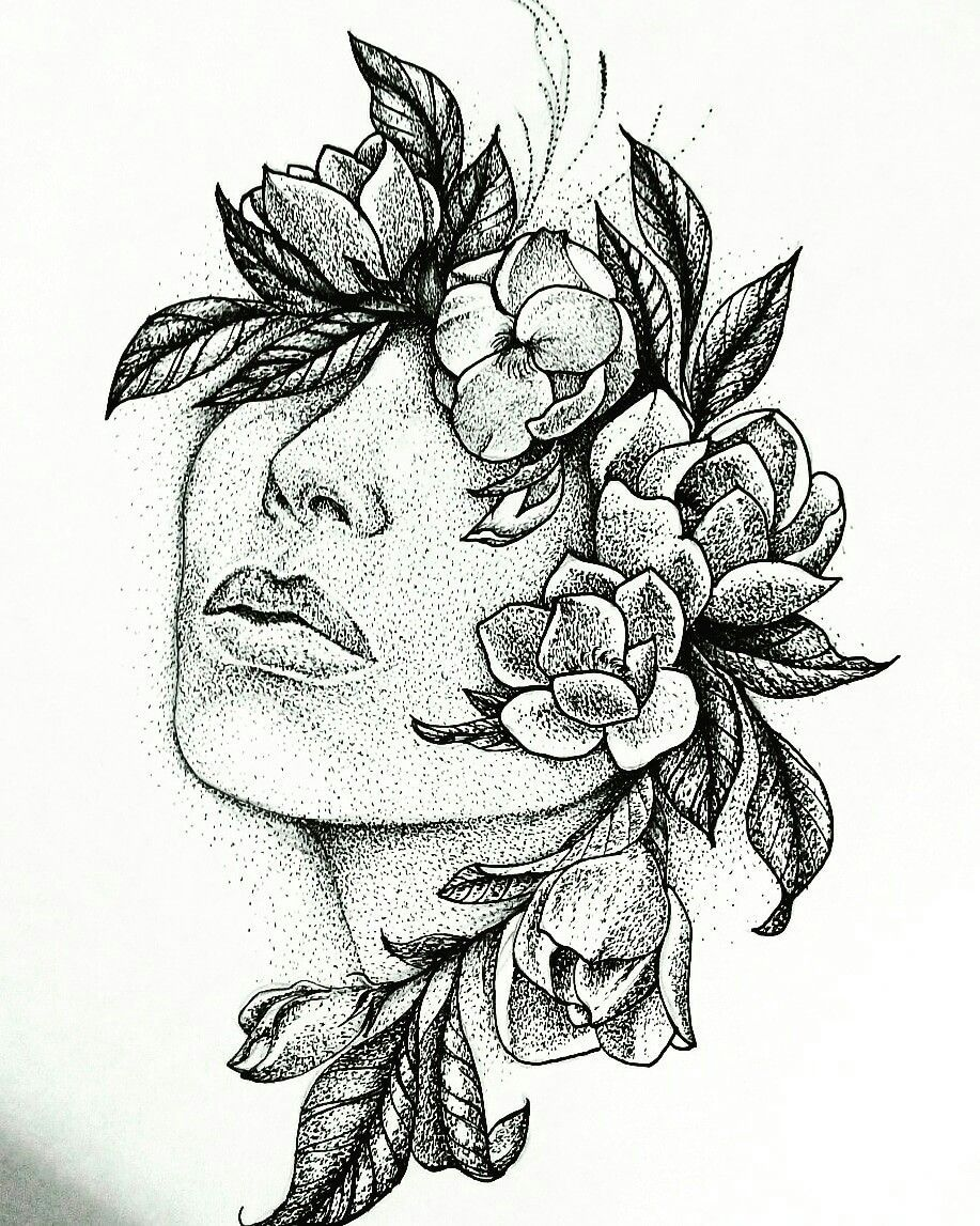 Learn to draw a realistic rose stippling art sketches