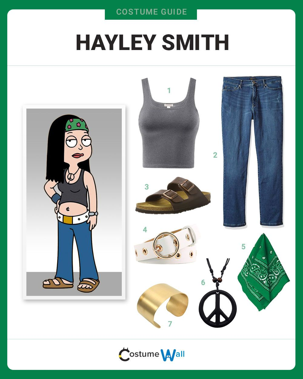 Dress Like Hayley Smith Casual Cosplay Character Dress Up Cool
