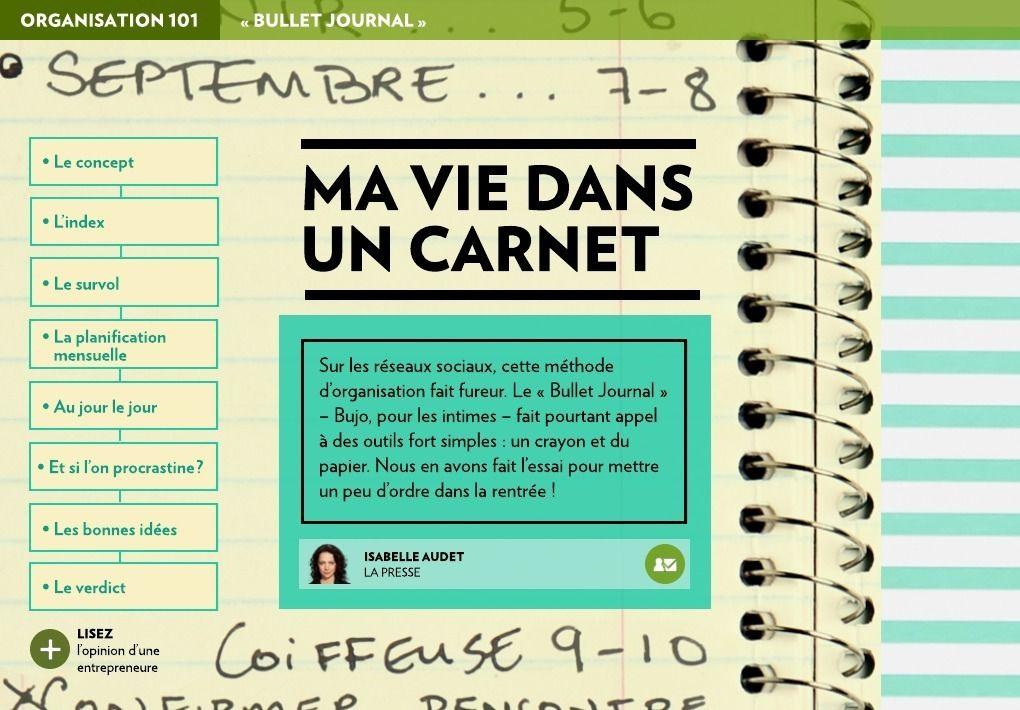 Article complet sur le Bujo sur La Presse+