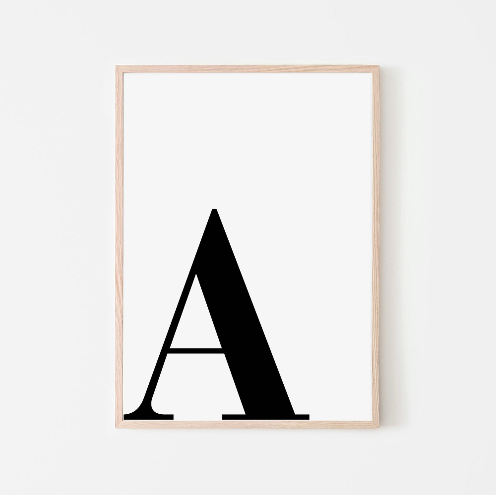 Letter A Printable Art Large Letter A Initial Etsy In 2020 Custom Quote Print Lettering Lettering Alphabet