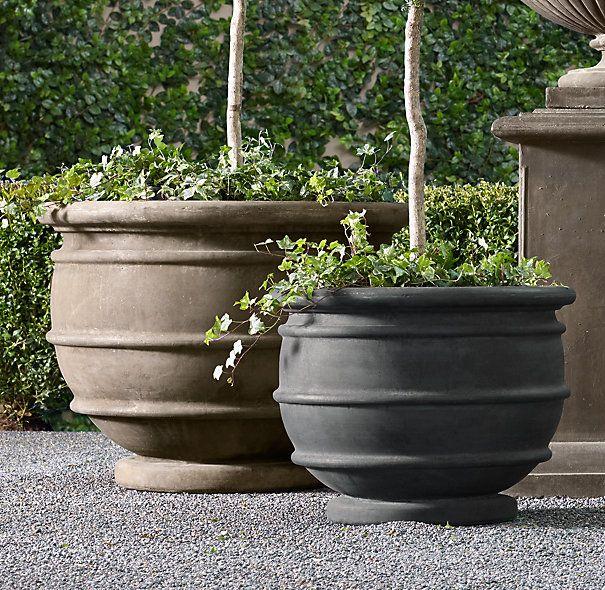 Marcella Cast Stone Planter Stone Planters Planters Outdoor Stone