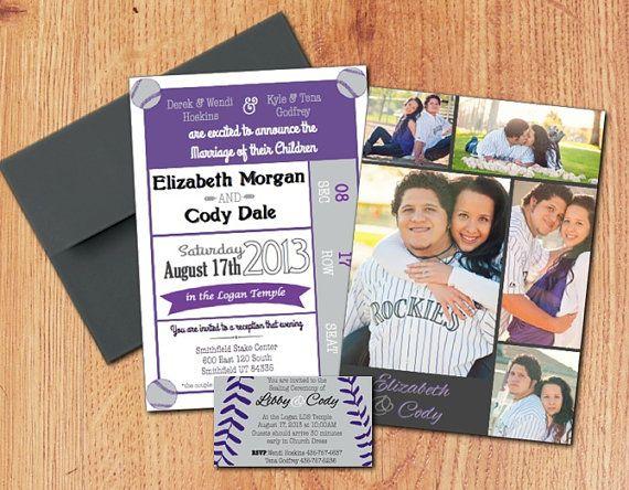 Baseball Themed Customized Wedding by PinkPearlPrinting on Etsy