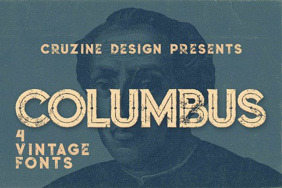 Columbus Typeface by Cruzine on @creativemarket