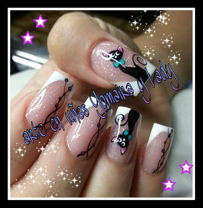 Arte en uñas Yomaira y Lady   uñas   Pinterest   Uñas fáciles, Uñas ...