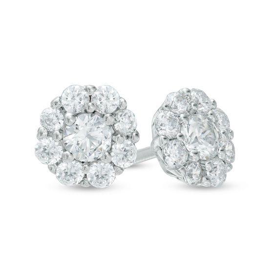248d27cb8 1/2 CT. T.w. Composite Diamond Stud Earrings in 10K White Gold ...