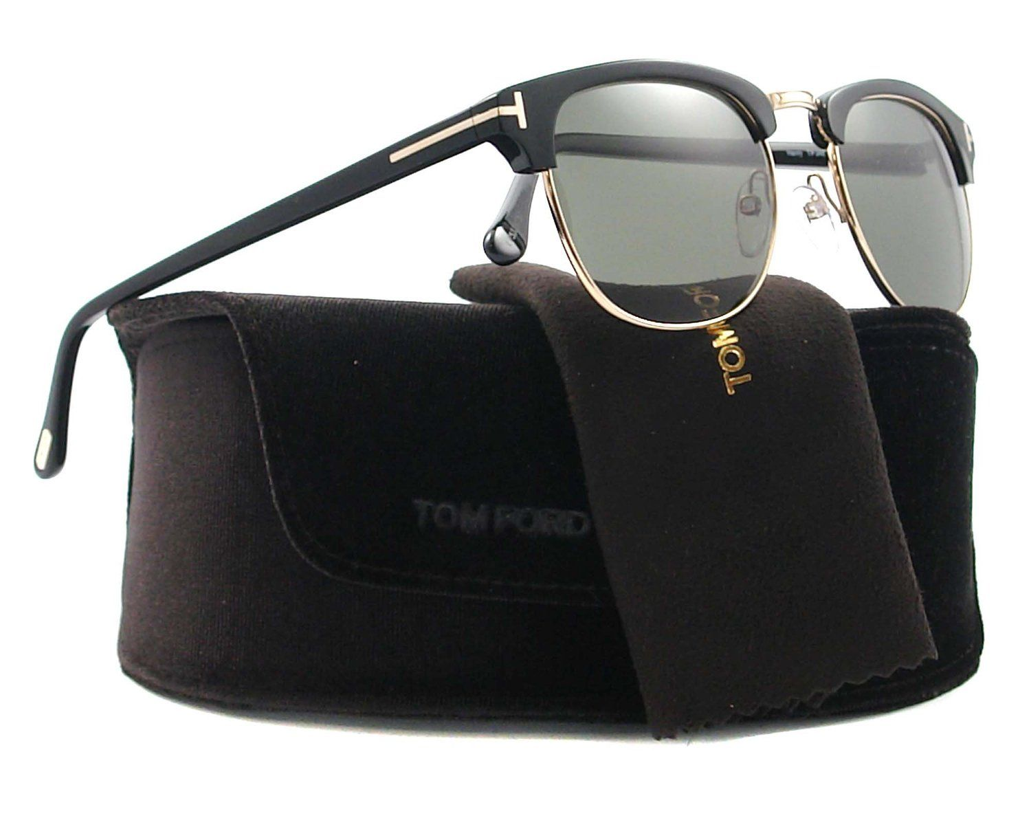 0df3cdc9d71 Amazon.com  Tom Ford Sunglasses - Henry   Frame  Shiny Black with Rose Gold  Lens  Grey Gradient  Tom Ford  Shoes