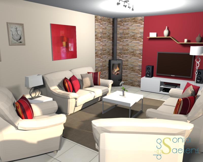 projet client relooking d 39 un salon s jour sonia saelens d co home pinterest. Black Bedroom Furniture Sets. Home Design Ideas