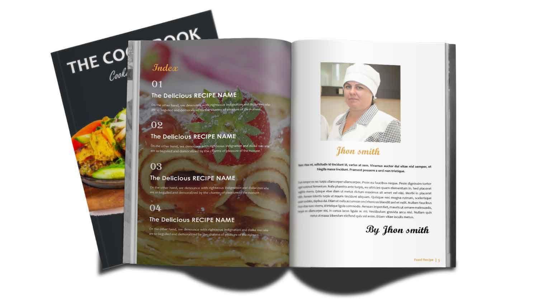 Recipe interior design. Recipe book design, Book design
