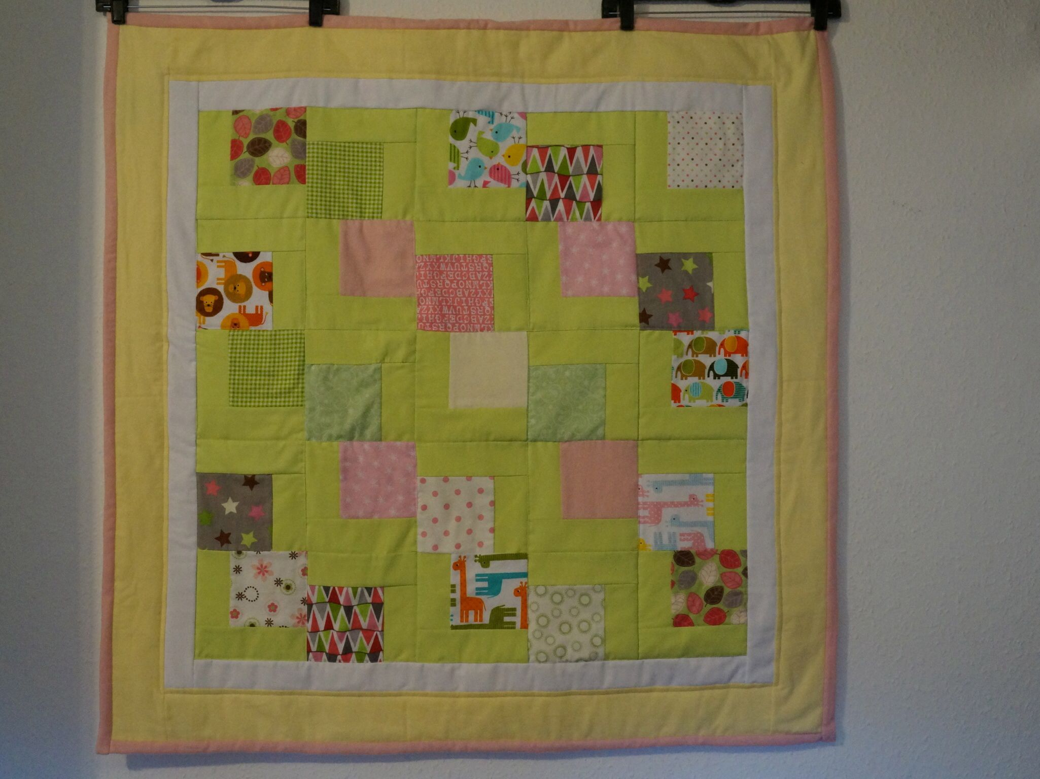 A Falling Charm quilt made with cotton on the front and flannel on ... : falling charm quilt - Adamdwight.com