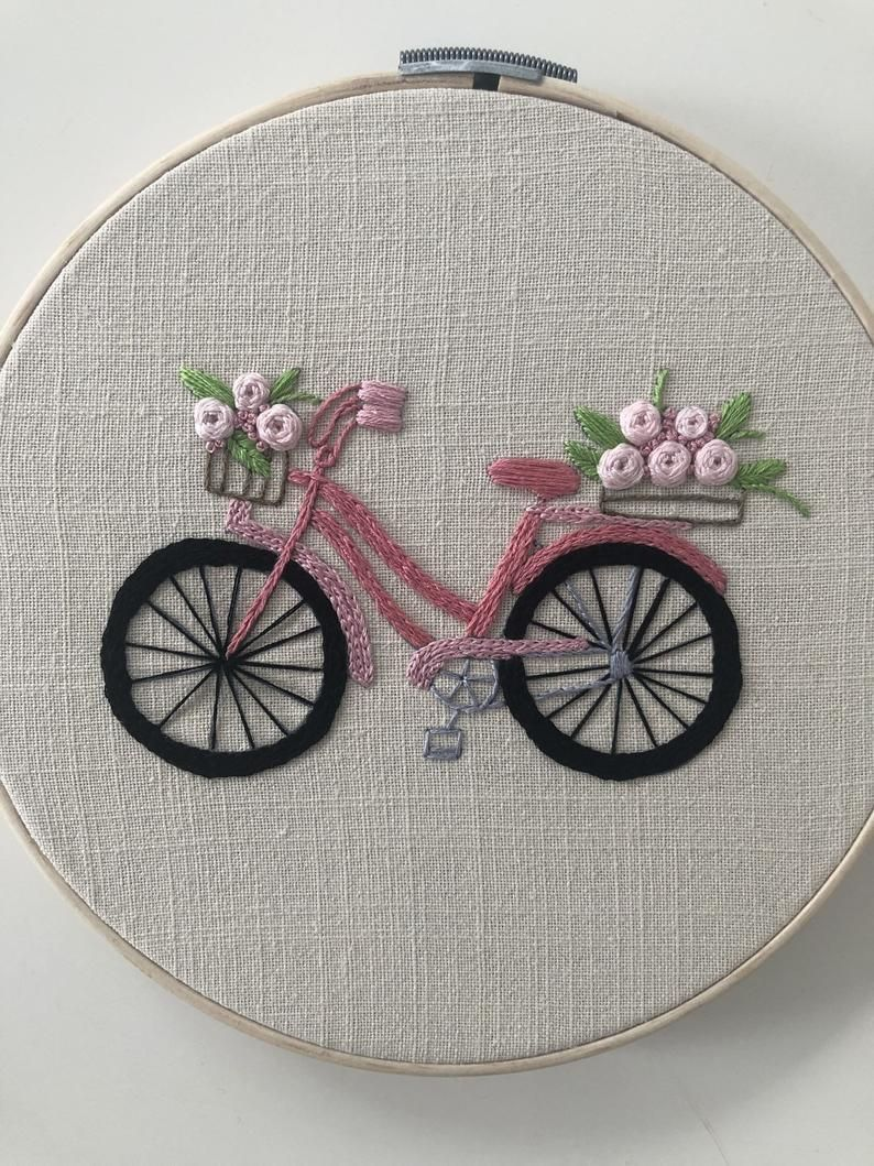 Embroidered hoop Hand embroidery, fiber art, home decor –   – #art #Artists #Cer…