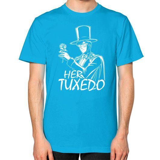 HER TUXEDO Unisex T-Shirt (on man)