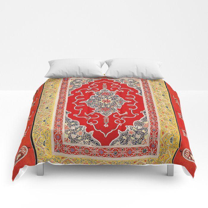 Rasht Gilan North Persian Embroidery Print Comforters by Vicky Brago-MitchellA(r) - Queen: 88