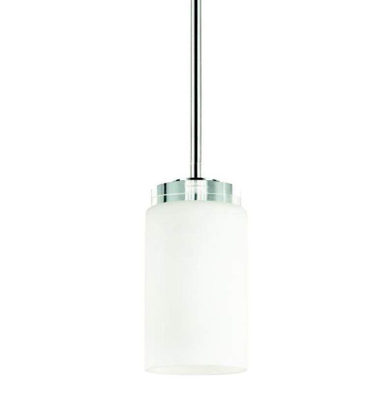 "Kichler 42123 Reynes Single Light 4"" Wide Pendant with K9 Crystal Disk Accent Chrome Indoor Lighting Pendants"