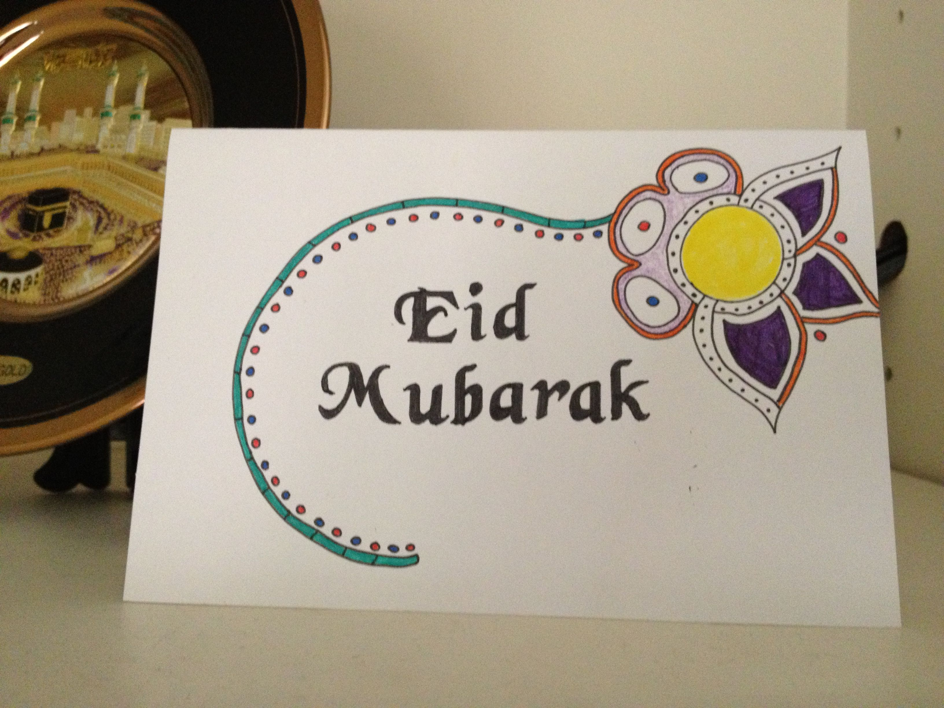 Eid Card Hand Stenciling Underway