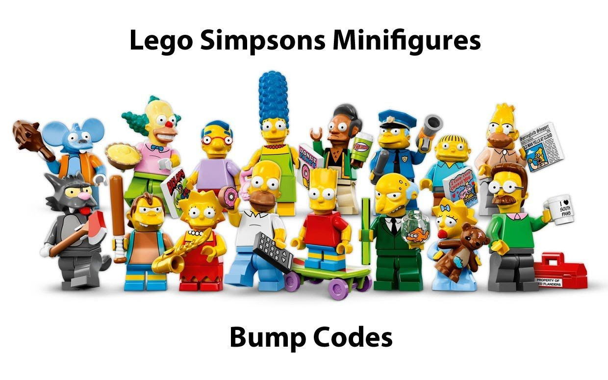 New #Lego #Simpsons #Minifigures #CompleteSeries #BumpDotCodes this good to know wish i knew that yesterday lol