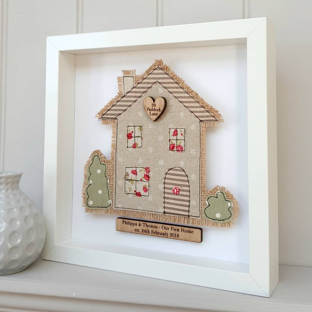 Personalised New Home Gifts Handmade Fabric House New Home First Home Picture Deidre And