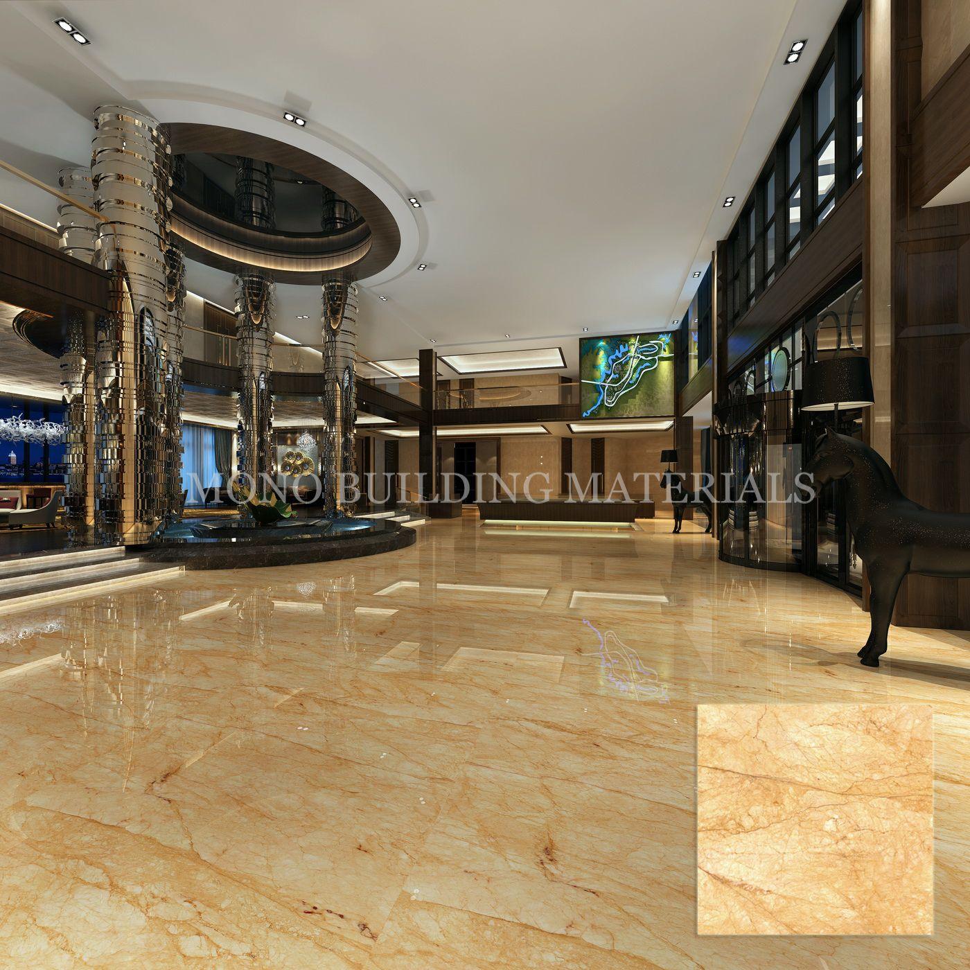 Golden Marble Look Tile Aggie Chan Foshan Moreroom Stone
