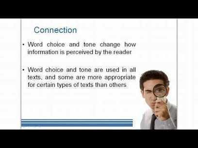 Common Core Literature 4 Word Choice and Tone: This video