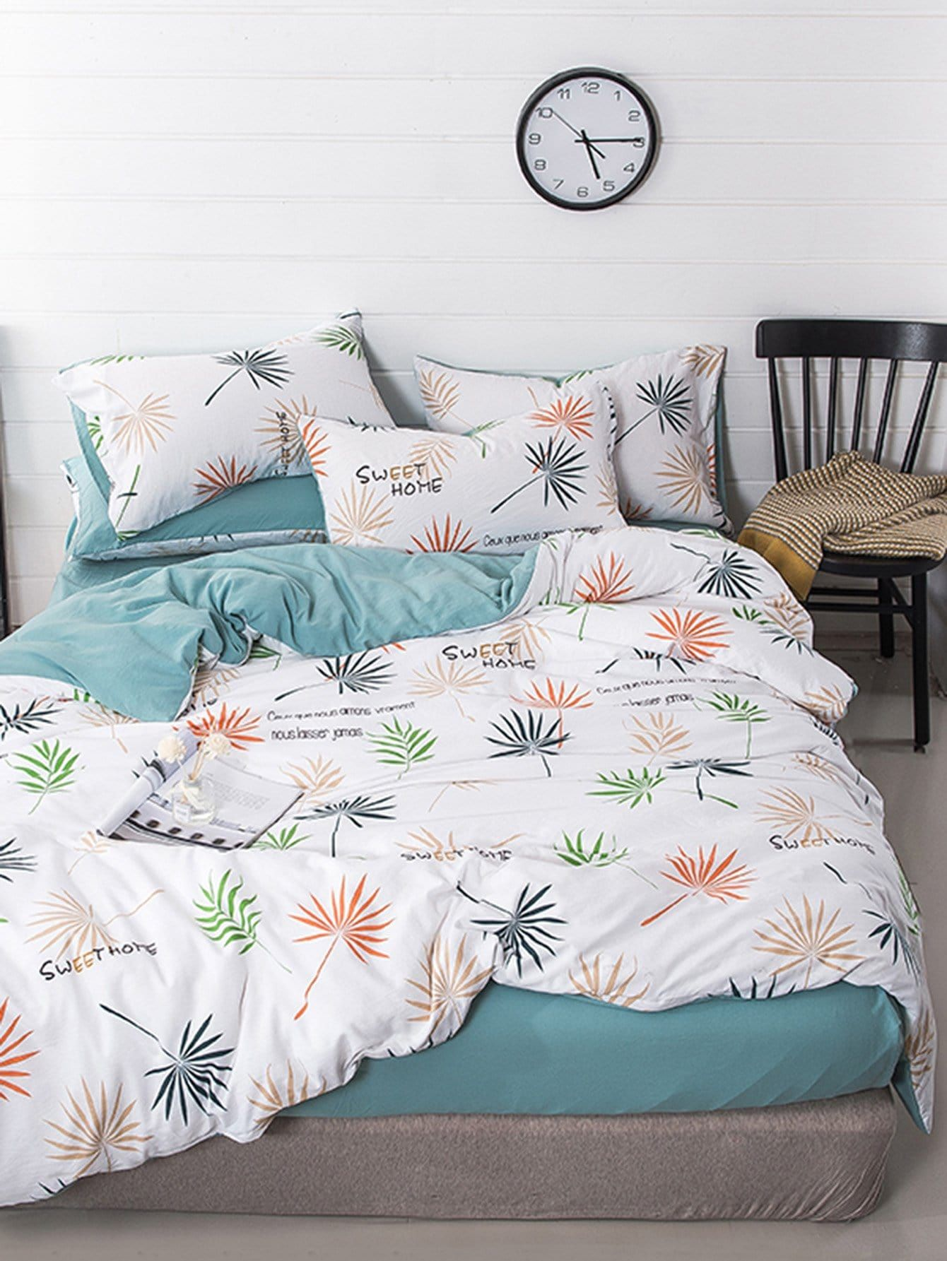 Leaves Print Sheet Set #discounted #fashion #moda #product #trend #women #girls