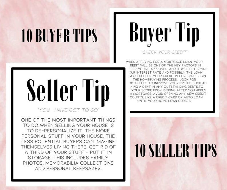 20 Instant Download and Editable Buyer & Seller Ti