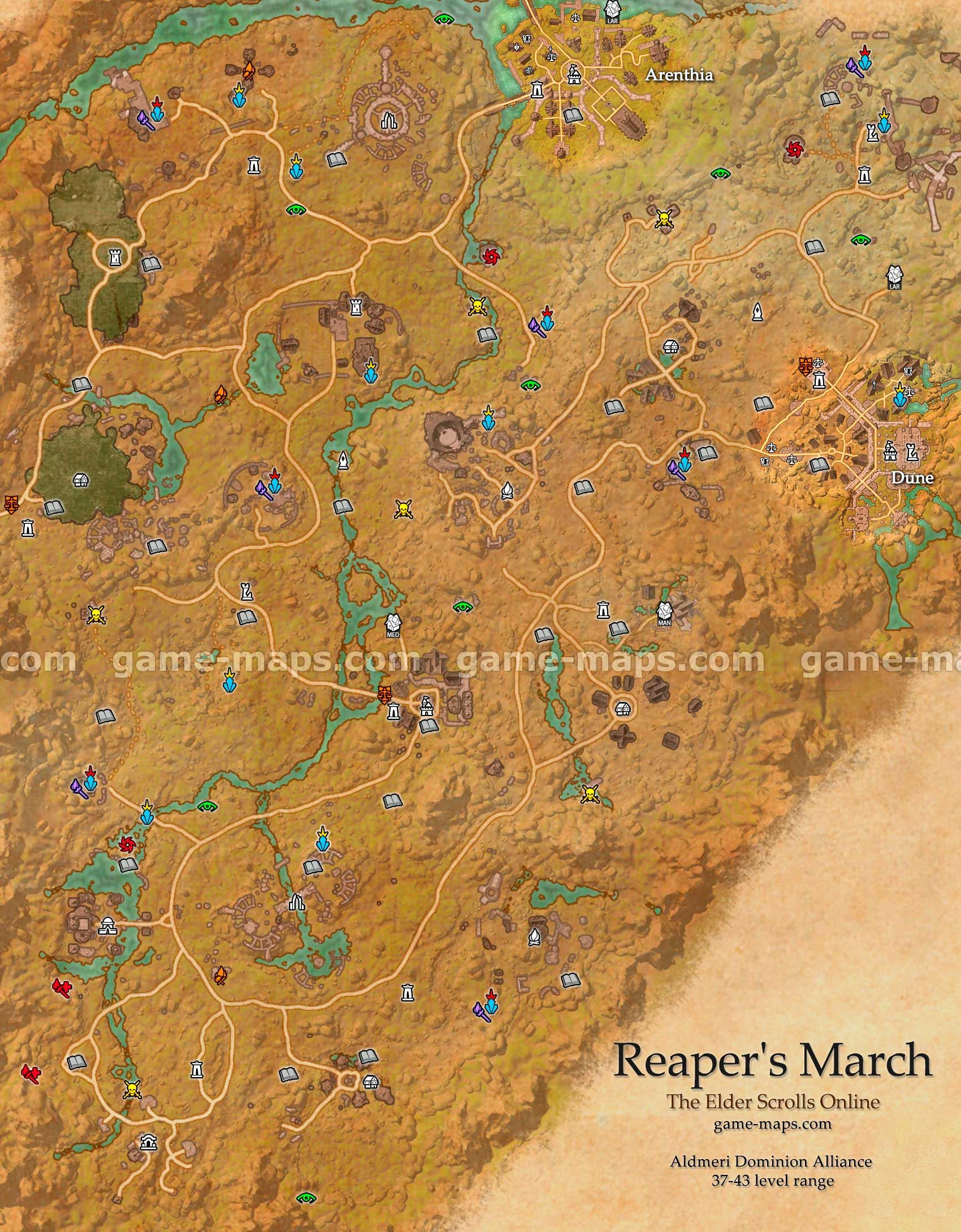 Stonefalls Treasure Map 3 : stonefalls, treasure, Reapers, March, Treasure, Catalog, Online