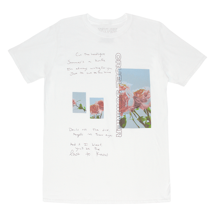 Taylor Swift Summer Lyrics Cruel Lyric Shirts