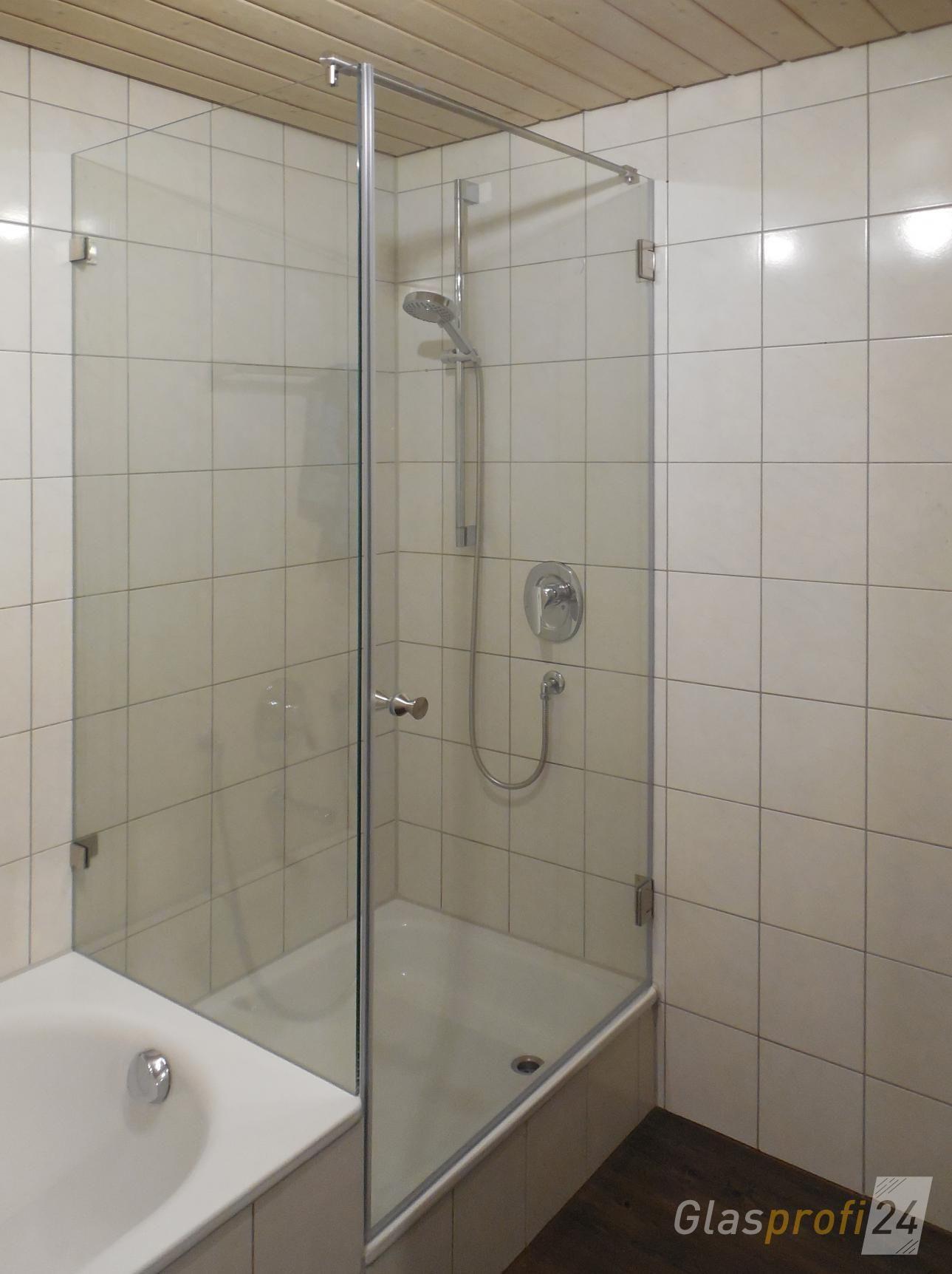 Badewannenanschluss Fur Glasdusche Mit Robusten Edelstahl Beschlagen Hier Online Konfigurieren Und Preis Dusche Renovieren Badewanne Badezimmer Dachgeschoss