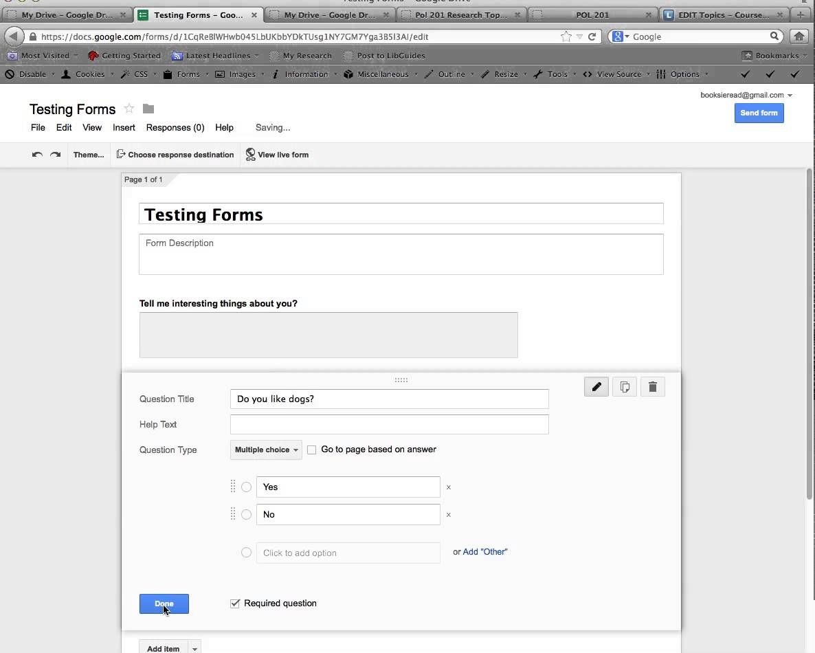 How to Create a Google Form and Publish it to the Web
