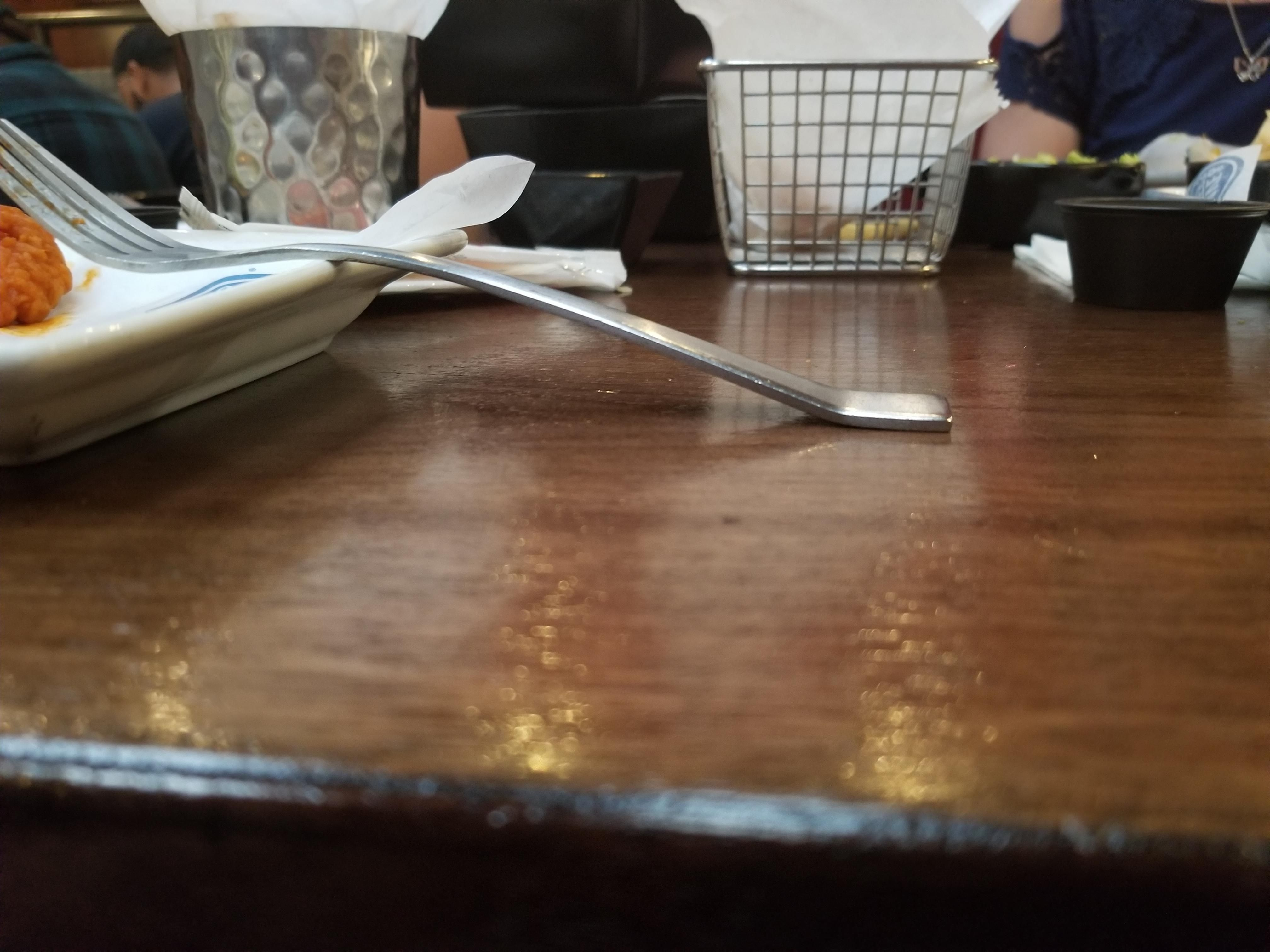 The Base Of This Fork Being Even With The Table