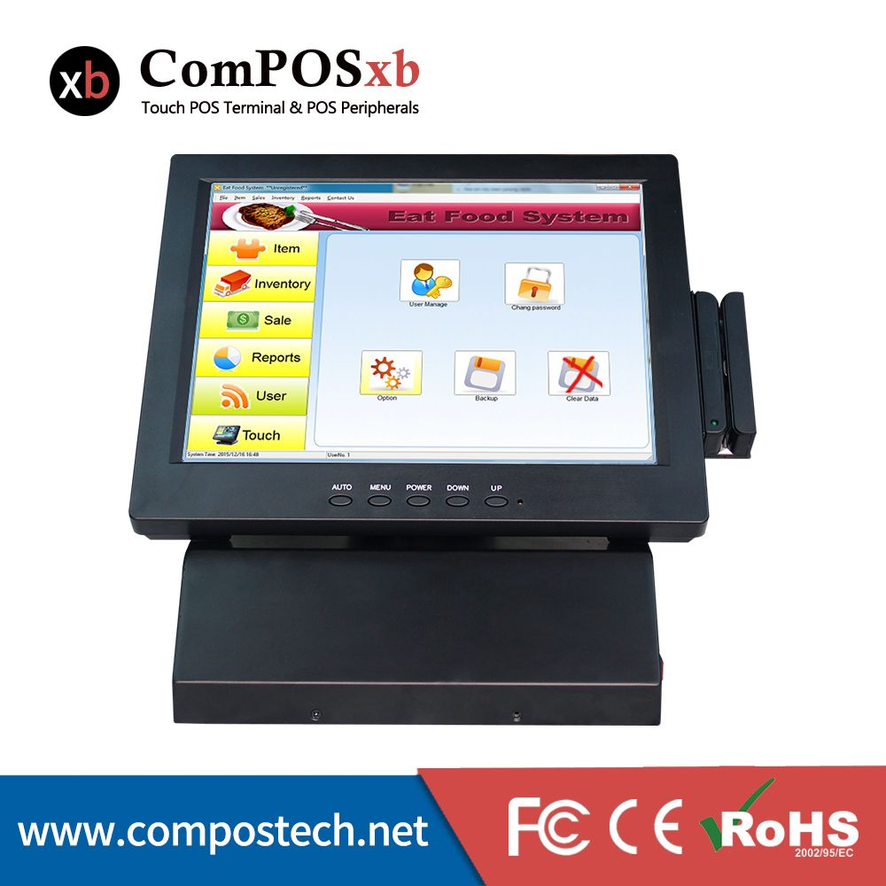 Compos Tech 12 All In One Complete Touch Screen Pos Systems Touch Screen Pos Terminal Cash Register W Computer Peripherals Touch Screen Computer All In One Pc