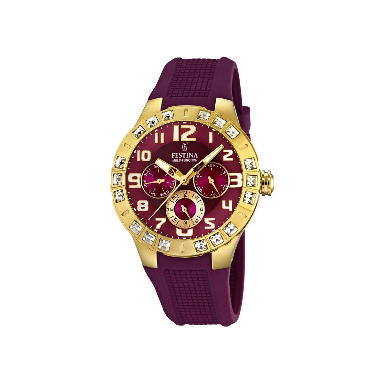 Festina Damen Armbanduhr Trend Golden Dream Multifunktion