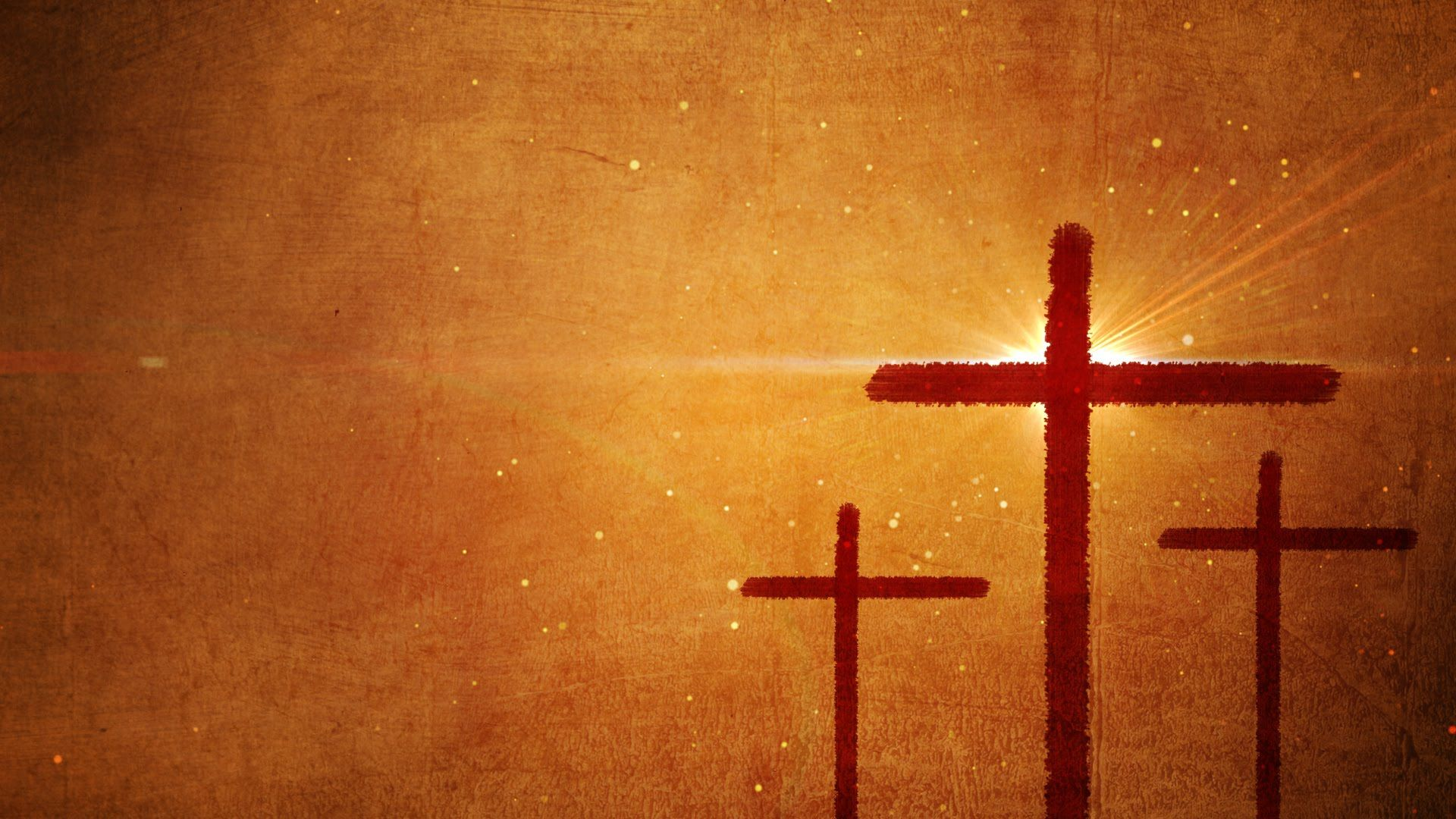 Easter Motion Background featuring 3 crosses. Download