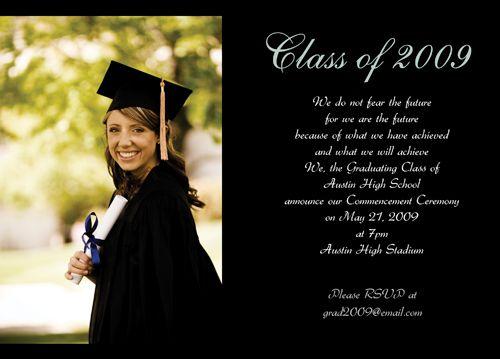 Sample Graduation Announcements