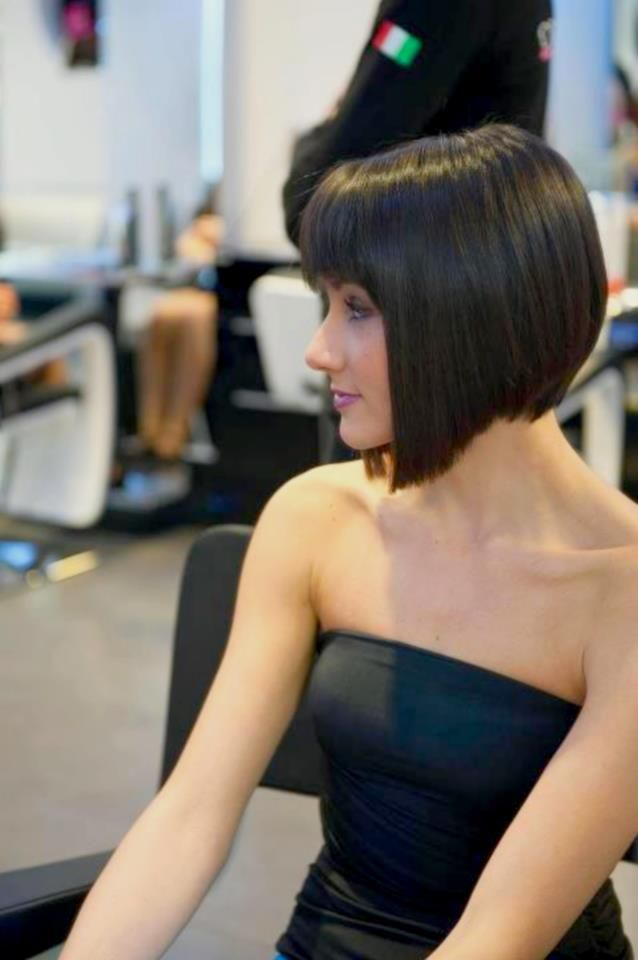 Cute Stacked Bob from Side