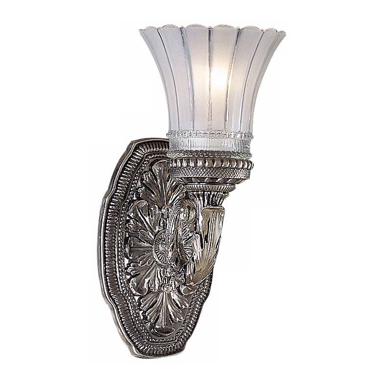 """Photo of Europa Collection 11 1/4 """"High Brushed Nickel Wall Sconce – # 42426 