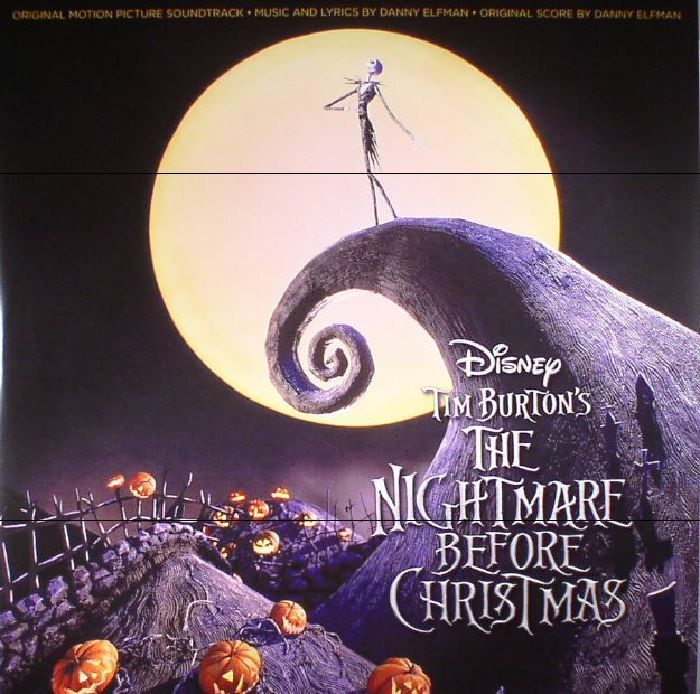 The Artwork For The Vinyl Release Of Danny Elfman The Nightmar Nightmare Before Christmas Soundtrack Nightmare Before Christmas 2 Nightmare Before Christmas