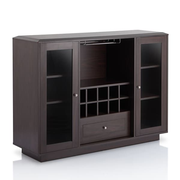 Furniture Of America Karthen Espresso Multi Storage Dining Buffet