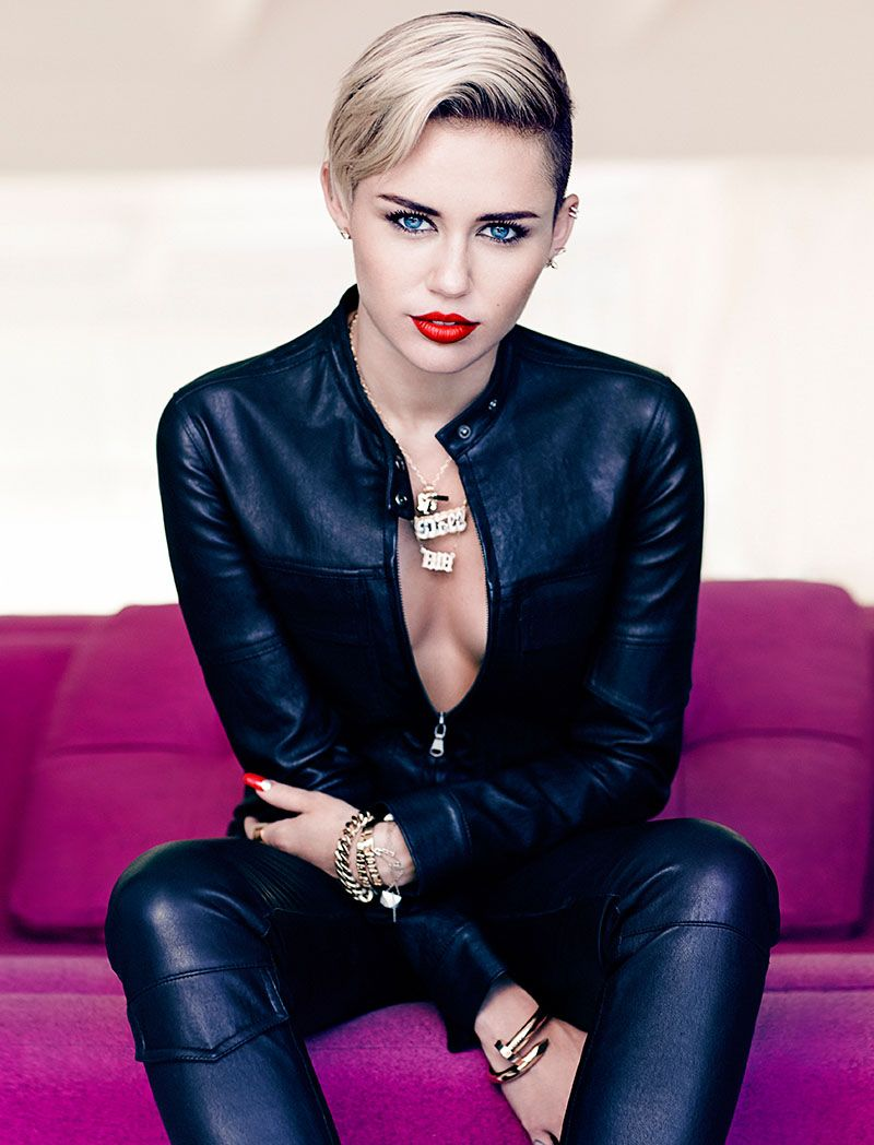 Photo of Miley Cyrus Poses for Chris Nicholls in Fashion November 2013 Issue