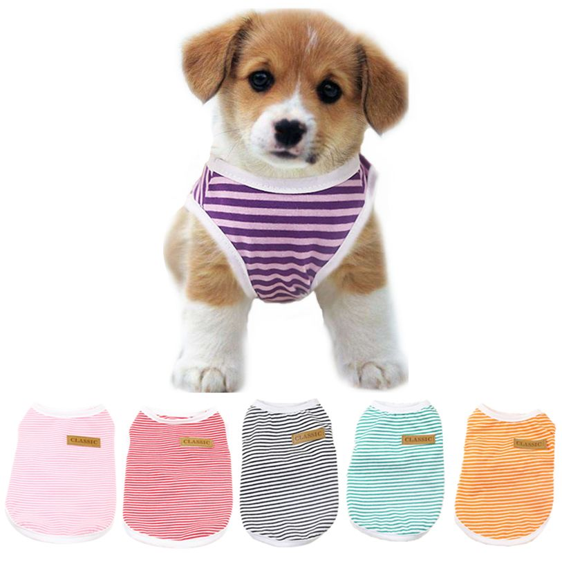 Spring/Summer Classic Pet Dog Vest T-Shirt Striped Dog Shirt XS-XXL Pet  Clothes For Dogs Cats Puppy Dog Clothes Wholesale noJA4 - Dog Apparel Deals  | Girl and dog, Dog shirt, Dog clothes
