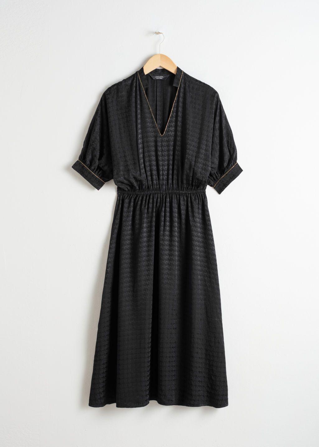 cb981da90f   OTHER STORIES Houndstooth Jacquard Midi Dress