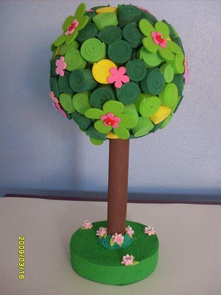 Enfeite De Eva ~ Árvore em EVA Ideal para enfeite de mes magda